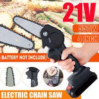 550W 4 Inch Mini Chainsaw 21V Cordless Electric Portable Chains