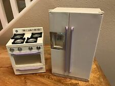 1996 Tyco Kitchen Stove Oven Refrigerator Fridge Barbie Electronic Sounds
