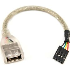 Rocstor Premium 6in USB 2.0 Cable - USB A Female to USB Motherboard 4 Pin Header