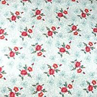 Delicate Small Red Flowers on White, Cotton Fabric by Free Spirit, Per 1/2 Yd