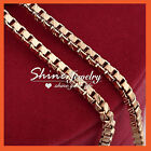 MENS WOMENS GIRLS KIDS GOLD GF SOLID BOX CHAIN LONG NECKLACE for PENDANT GIFT