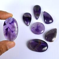 21.5 Carat Natural Amethyst Gemstone Cabochon 6 Pieces Lot Gemstone Wholesale Lot G25267 Purple Gemstone