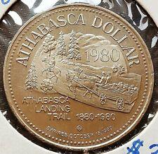 1980 Athabasca Alberta $1 Trade Dollar - Athabasca Landing Trail