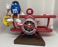 M&M's World Blue Character Red Airplane Candy Dispenser New with Tag