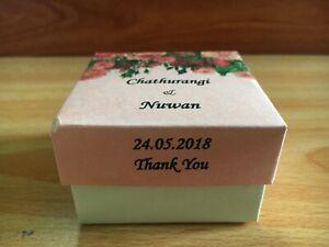 Handmade Wedding Cake Square Shape Beautiful Loving Box With Detail Printed Lid.