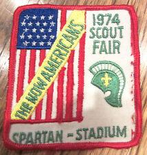 Boy Scout Uniform Patch Now Americans Scout Fair 1974 Spartan Stadium
