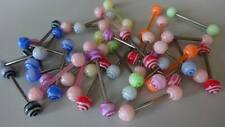 SET 10 x ZUNGEN LUTSCHER CANDY LOLLIPOP Acryl Flexi Stab Ball 6 mm