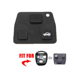 Pro Replacement 2 or 3 Button Car Remote Key Black Rubber Pad For Toyota Avensis