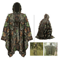 3D Leafy Poncho Jungle Ghillie Suit Camou Hunting Tactical Bionic Leaf Clothing