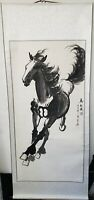 Chinese Watercolor Painting Signed Silk Scroll