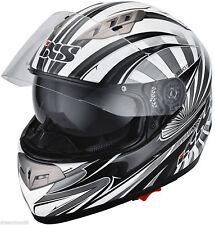 IXS Helm HX 450 Fiberglas Motorradhelm Gr.XS 53-54 mit integrierter Sonnenblende