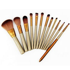 Pro 12Pcs Makeup Cosmetic Eyeshadow Foundation Concealer Brushes Set  GAM