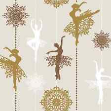 Christmas 20 Paper Lunch Napkins PRIMA BALLERINA COPPER Christmas New Year