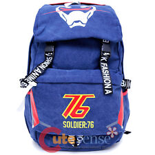 Overwatch Soldier76 Large Backpack Game OW Laptop Carry Bag School Bag