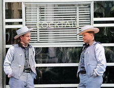 """1939 Dudes in Town, Billings, Montana Old Photo 8.5"""" x 11"""" Reprint Colorized"""