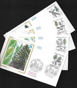 1985 série flore et faune de France arbres enveloppe premier jour