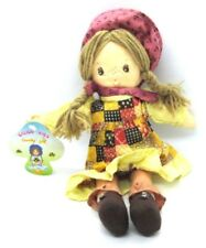 Calico Kids Country Girl Doll 1989 Cuddle Wit Stuffed Freckled Doll Yarn Hair