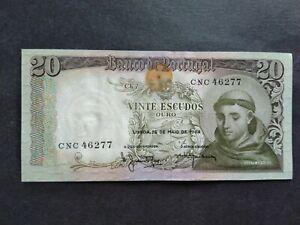 PORTUGAL 20 ESCUDOS 1964 CNC BANKNOTE
