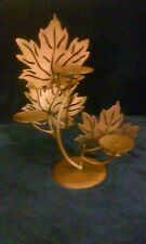 """Candleholder Burnished Copper Metal Holds 3 Candles 13"""" Tall"""