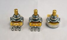 "Set of 3 - CTS Pots for Tele Guitar - Solid 1/4"" shaft - 250 k ohm - Made in USA"