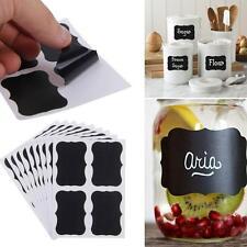 36Pcs Kitchen Jar Labels Chalkboard Blackboard Chalk Board Stickers Decals Craft