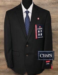 NWT CHAPS Performance Mens Black Two-Button Classic Blazer Sport Coat Jacket 40R