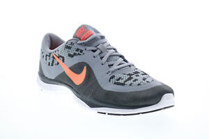 Nike Flex Trainer 6 Print Womens Gray Low Top Athletic Cross Training Shoes 7