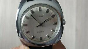 montre vintage Timex électric   fonctionne  35x35 mm hors molette