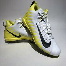 Nike Alpha Menace Pro Mid Men's Football Cleats Sz 10 White / Yellow / Black