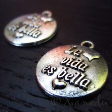 Life Is Beautiful Wholesale Spanish Message Charms C5232 - 10, 20 Or 50Pcs