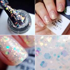10ml Born Pretty UV Gel Polish Soak Off Colorful Glitter Nail Art Varnish #011