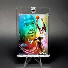 Michael Jordan FLAIR RAINBOW HOLO REFRACTOR SP INSERT BULLS CARD - W/ CASE