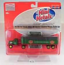 Mini Metals 1/87 White WC Tractor with Trailer Del Monte Foods OVP #1626