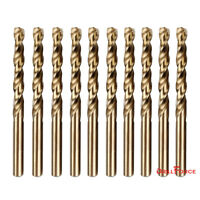 "10PCS 17/64"" Cobalt Drill Bit Set M35 HSS Jobber Length Twist Drill Bits Tools"