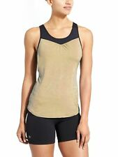 ATHLETA Womens Supercharged 2 in 1 Tank Bra Exercise Top SZ S Gold Black $64