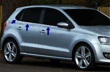 VW POLO 6R 2009Up Chrome Windows Frame Trim 4 Door 6Pcs S.Steel