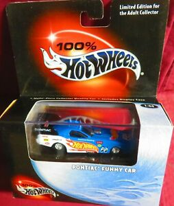 PONTIAC FUNNY CAR, 1/64 100% HOT WHEELS, WITH OPENING FEATURES, RUBBER TIRES
