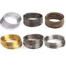 Wholesale 100/500 Loops Silver/Gold Memory Steel Wire Cuff Bangle Bracelet