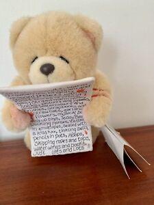 Forever Friends Plush Bear ~ Rare ~ Nwt ~ 18 Cm