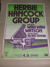 Herbie Hancock Group 1976 - Konzertplakat Tourplakat XXL Europatour
