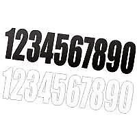 ENDURO MOTOCROSS RACE NUMBERS X 9 BLACK OR WHITE 4 INCH NUMBERS