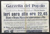 Giornale Gazzetta del Popolo N.22 Biseo e Bruno Mussolini atterravano a Rio 1938