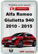 Alfa Romeo  Giulietta A-191 (940)  2010 - 2015  Workshop service repair manual