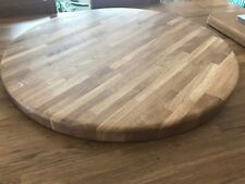 Rounded Solid Oak Table Top 60cm. Easy Clean Kitchen, Dining, Living Room
