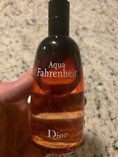 Dior Aqua Fahrenheit 4.2 Oz, 85% Full. Eau De Toilette DISCONTINUED!!!