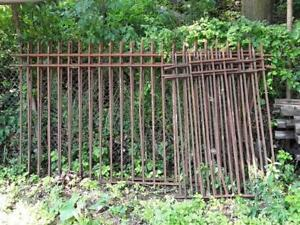 STEEL IRON FENCE SECTIONS USED
