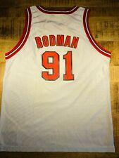 Dennis Rodman Kindertrikot (XL) Champion weiß Vintage 1996 Bulls