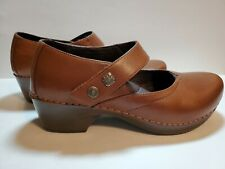 Dansko Tandy Cordovan Brown Leather Mary Janes Clogs Shoes Size 40 EUC