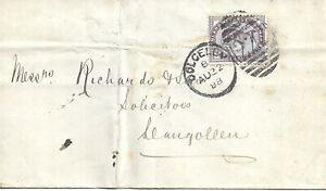 GB 1888 1d Lilac Cover with Dolgelly 222 Duplex to Llangollen