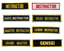 Martial Arts Title Patches, Instructor, Master, Sensei, Assistant iron-on Patch